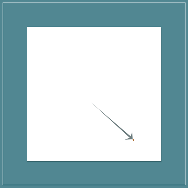 The abstract idea of a sample space illustrated as a white square. An arrow is pointing to a random point on the square, symbolizing an outcome of some abstract experiment.