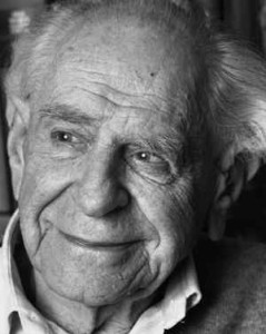 A picture of Karl Popper.