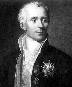 A portrait of Pierre-Simon Laplace