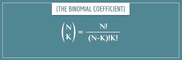 Combinatorics: N-choose-K = N! / (N-K)! K!