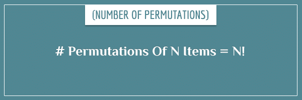 # Permutations Of N Numbers = N!
