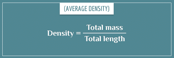 The formula for average density