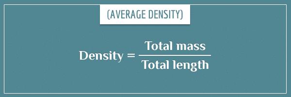The formula for average density