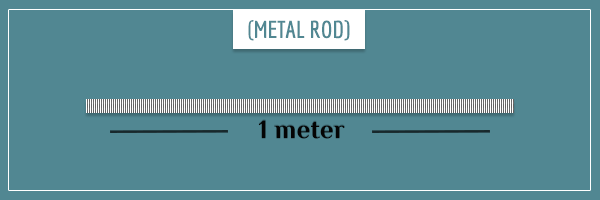 A white rod 1 meter long and with a mass of 1 kg