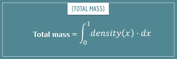 The integral formula for total mass from densities