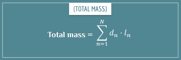 The formula for total mass from densities