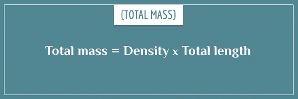 The formula for total mass from density
