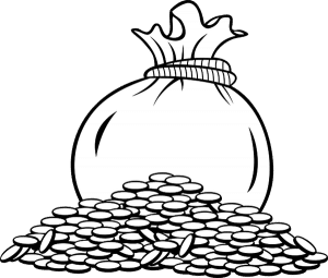 A bag of coins
