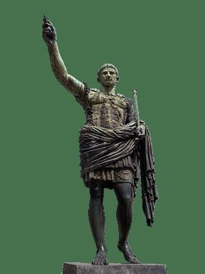A statue of the Roman emperor Julius Caesar