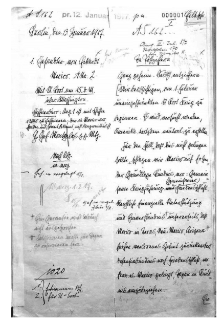 The original draft of the Zimmermann Telegram