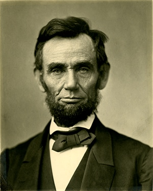 A photo of US president Abraham Lincoln