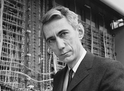 A photo of US cryptographer Claude Shannon