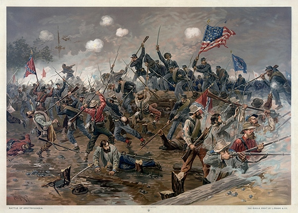 A picture of a battle from the US Civil War