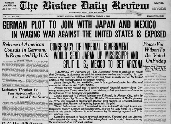 GERMAN PLOT TO JOIN WITH JAPAN AND MEXICO IN WAGING WAR AGAINST THE UNITED STATES IS EXPOSED