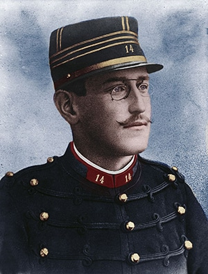 A portrait of Alfred Dreyfus