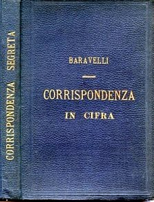 The book cover of Corrispondenza in cifra, implementing Baravelli's code