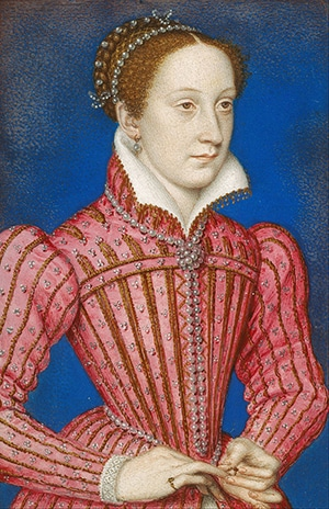 A portrait of Mary, Queen of Scots