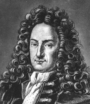 A portrait of Gottfried Leibniz
