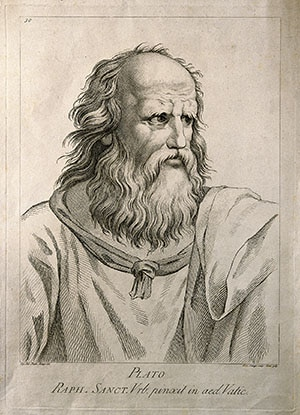 A portrait of Plato