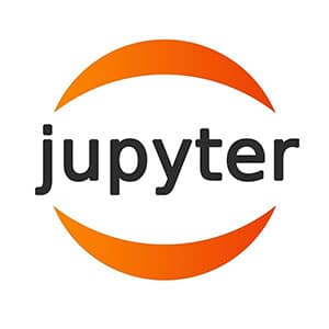 The logo of the web application Jupyter Notebook