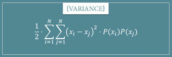 An alternative formula for the statistical dispersion measure called variance