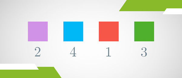 Boxes in different color representing different place values in the base 10 numeral system