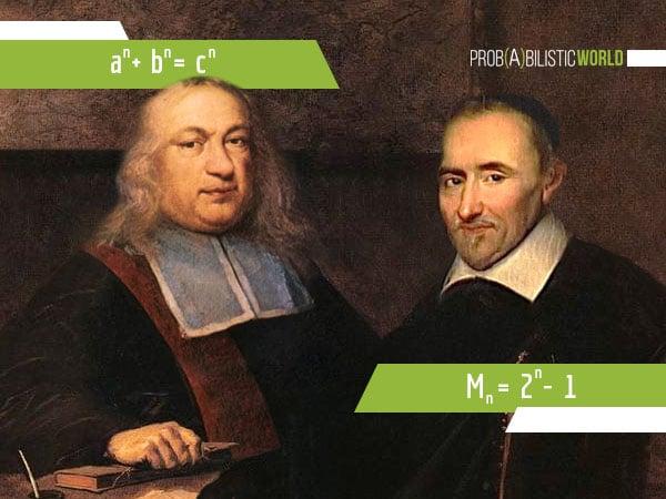 Portrait of Pierre de Fermat and Marin Mersenne